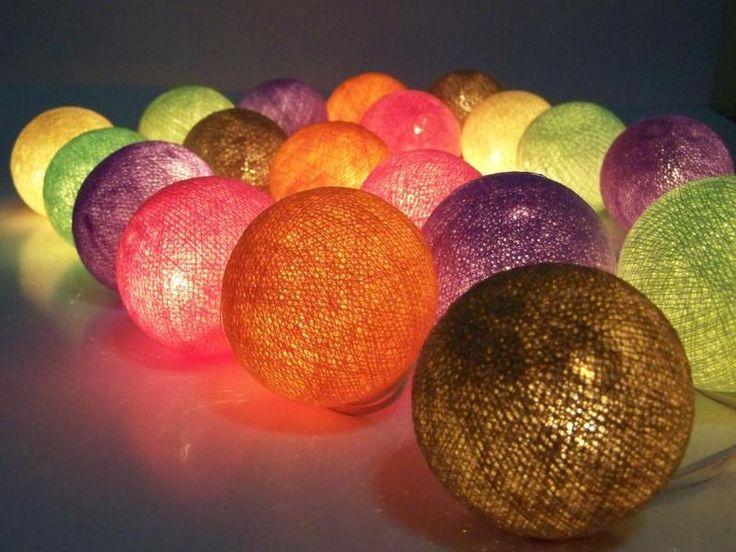 Lichte ketens, licht guirlande, ballon katoen van Siamrose op DaWanda.com