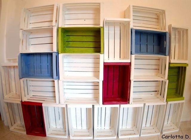 Oltre 1000 idee su cassette di frutta su pinterest casse for Cassette in legno ikea
