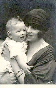 Queen Helen of Romania with her son Michael, future King of Romania