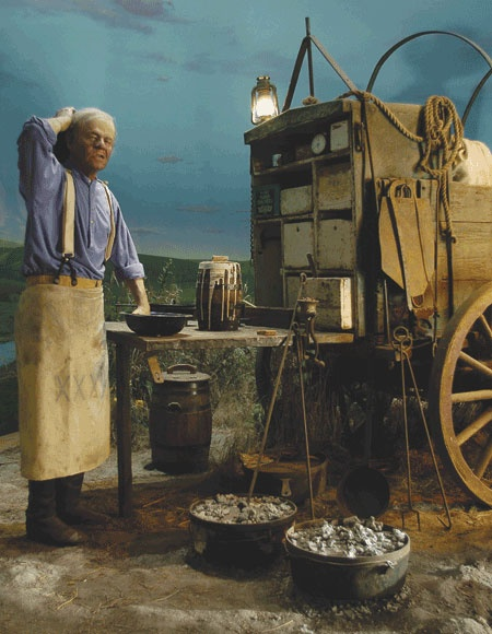 """Chuckwagon from National Cowboy and Western Heritage Museum. """"Now where'd I put that whiskey?"""""""