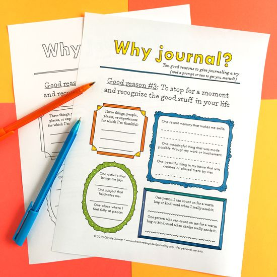12 Reasons to Keep a Journal