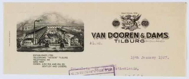 Briefhoofd van Dooren en Dams