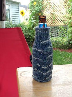 Free Knitting Pattern - Cozies: Fancy Bottle Cozy ...