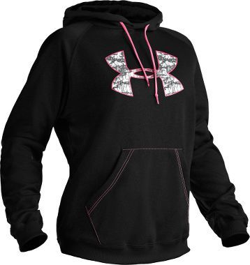 Under Armour Womens Tackle Twill Hoodie - Black (L) Womens childrensApparel womensActive