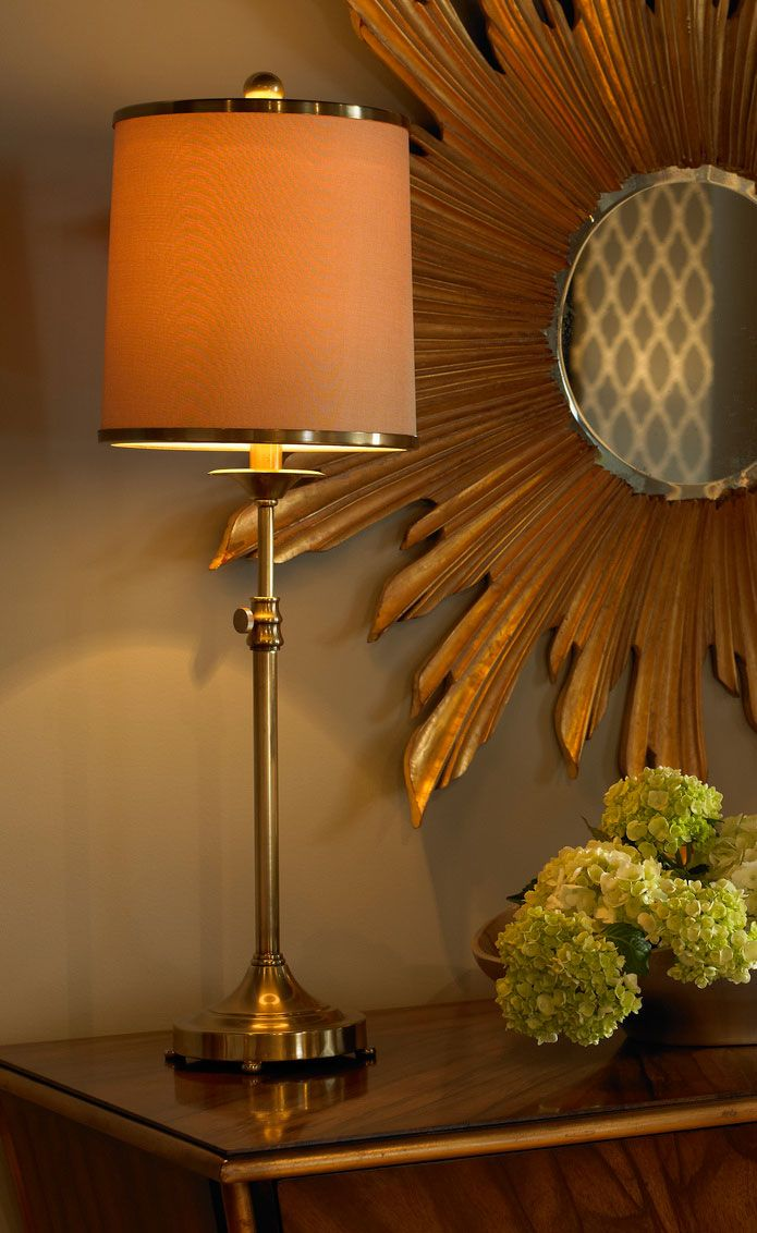 Elegant Setting With Brass Table Lamp Decorating Ideas