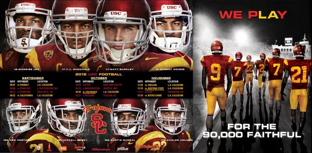 USC football - we play for the 90,000 faithful