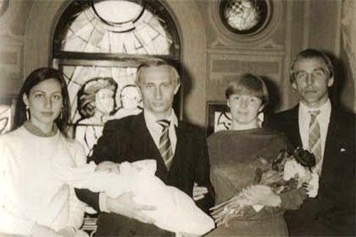 Vladimir Putin and Lyudmila Putina Baptism of their daughter
