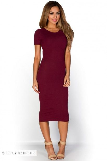 Casual wine colored dresses