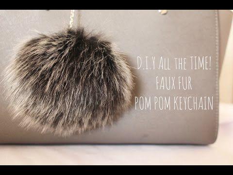D.I.Y All the Time! Faux Fur Pom Pom Keychain - YouTube