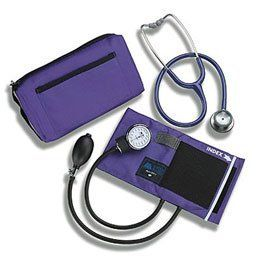 """Littman Classic II S.E. Stethoscope Combo Kit. Burgundy Stethoscope Combo Kit - Model 560080 by Sammons Preston. $280.42. Features an aneroid sphygmomanometer plus a color-coordinated Littman Classic II S.E. stethoscope. Also includes a matching full-sized carrying case. The coordinating adult size cuff fits arms 9 1/2""""-14 1/4"""" (24-36cm) in circumference. Made of comfortable nylon and the precision gauge includes a lifetime calibration warranty."""
