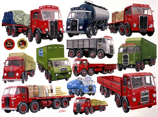 British Road Services - 12 Vehicles