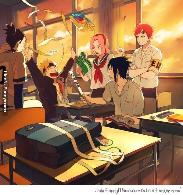 17 best images about naruto high school on pinterest