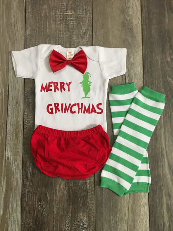 dr. Suess baby outfit the grinch baby boy by Mylittlerascal