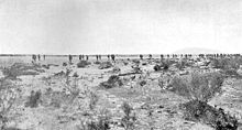 Dismounted advance towards Magdhaba by the 9th Light Horse Regiment  23 Dec 1916