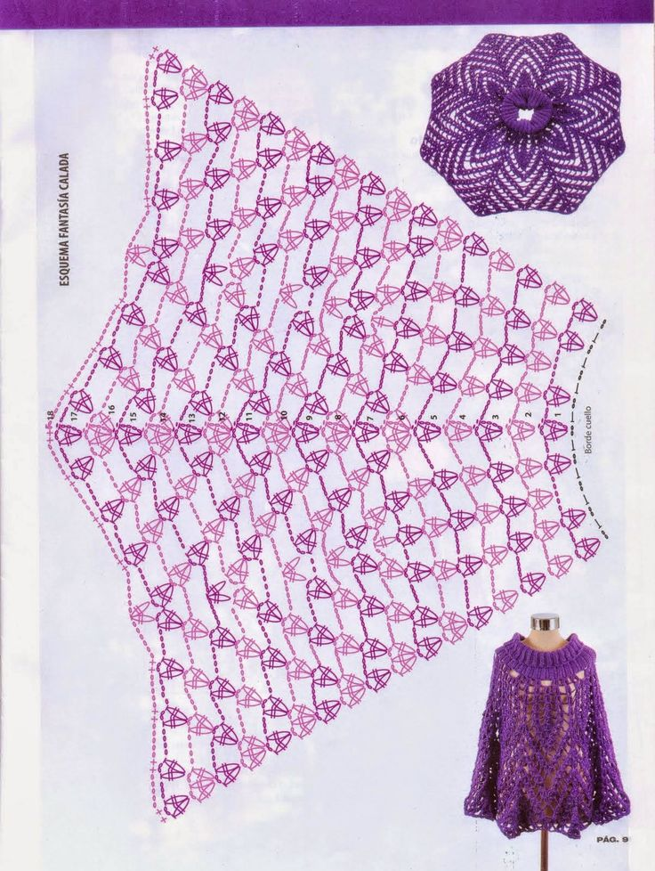 Poncho liviano y elegante realizado con ganchillo | Todo crochet
