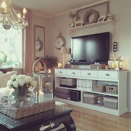The 25 best tv stand decor ideas on pinterest tv decor How high to mount tv on wall in living room