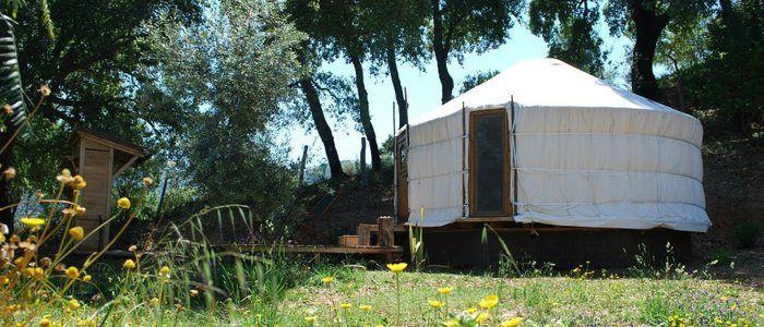 Cloud House. Genalguacil, Málaga. Yurta mongola.