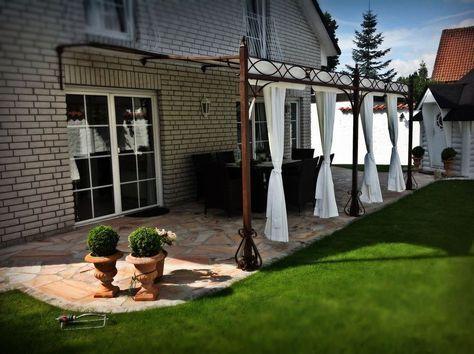 Terrassenüberdachung Markise Pergola Carport Metall Überdachung 3 x 3 m nach Maß