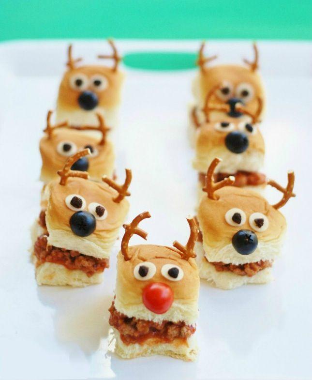 Christmas Reindeer Sloppy Joe Sliders.
