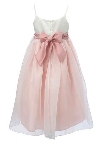 Lela Butterfly Dusky Pink Bridesmaid Dress