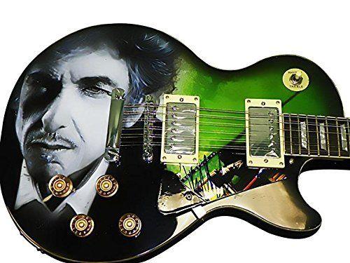 Bob Dylan Autographed Signed Airbrushed 12 String Guitar Psa/Dna