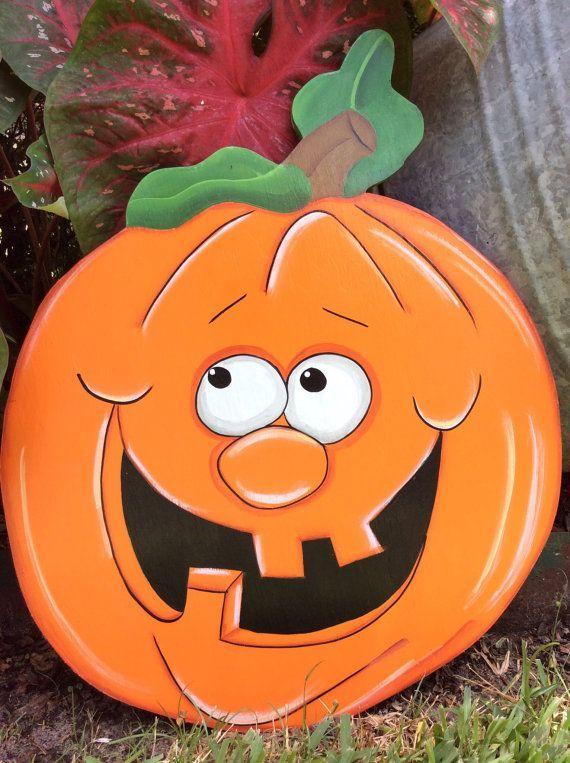 Fall yard art, Halloween yard art, yard decor, pumpkin yard art