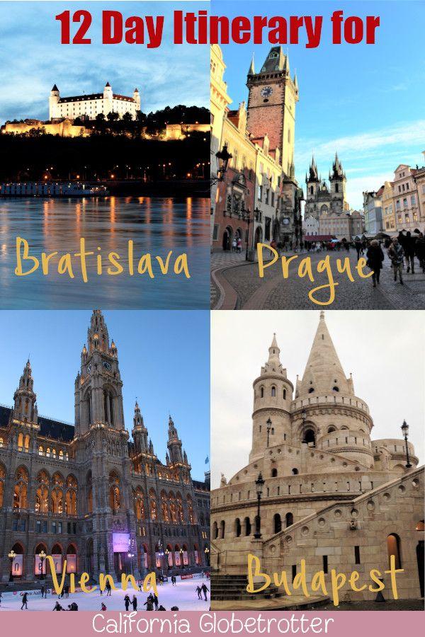 12 Day Itinerary for Budapest, Bratislava, Vienna & Prague