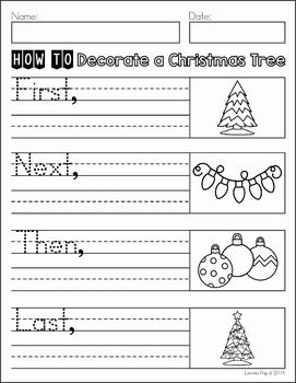 Writing Journal Prompts December. How to Decorate a Christmas Tree.