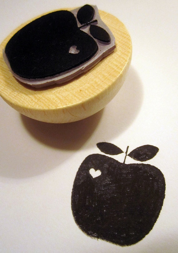 rubber stamp - APPLE
