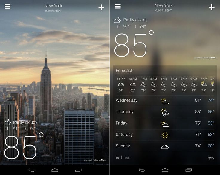 Yahoo Weather is the best looking weather app out there.