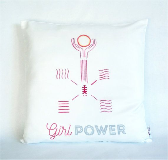 Girl Power Leeloo Pillow, Pillowcase, The Fifth Element, Sofa Pillow, Feminist Cushion, Feminist Decor, Pillow cover, Feminist gift