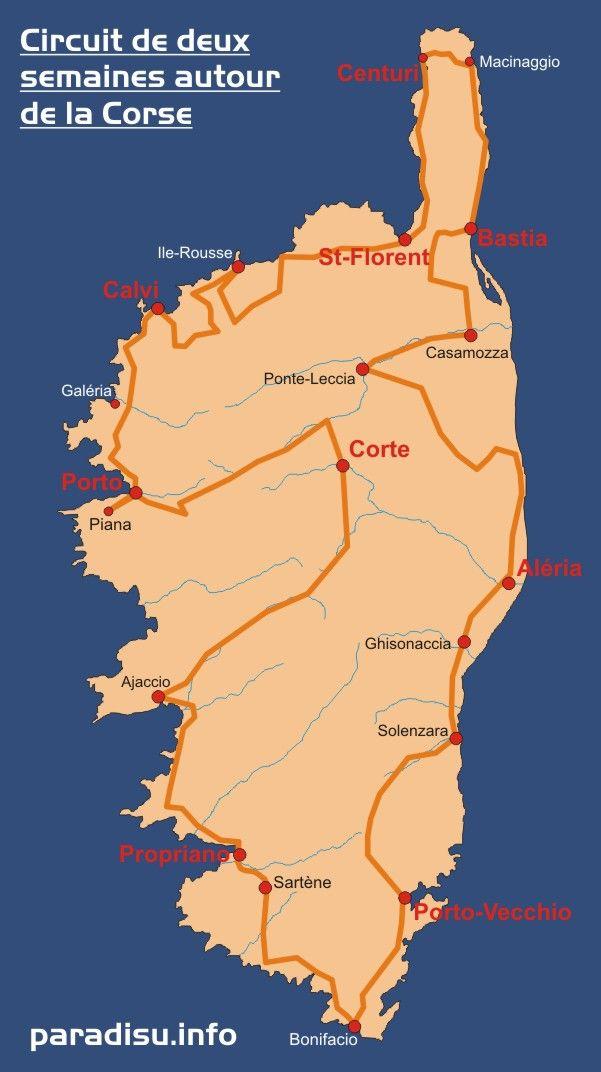 Circuit autour de la Corse en deux semaines