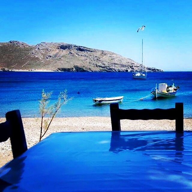 Wonderful Summer place , in Serifos island (Σέριφος) . Lovely blue color !