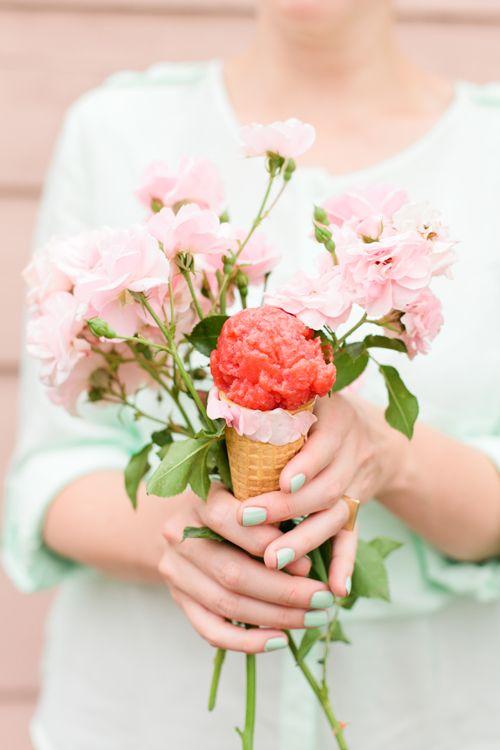 Strawberry Rose floral sorbet