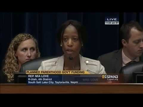 Mia Love vs. Planned Parenthood's Cecile Richards: None Of Our Clinics Have Mammogram Machines - YouTube