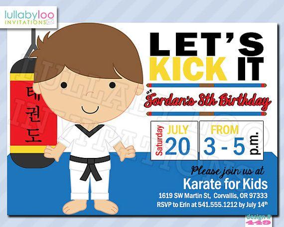 Taekwondo Or Karate Birthday Invitations 449 By LullabyLoo On Etsy 1800