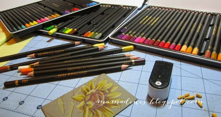 Excellent critique of the new Spectrum Noir oil pencils   Mama Dini's Stamperia: Impression Obsession
