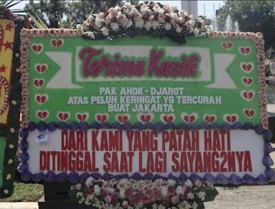 Kumpulan Foto-foto Lucu Karangan Bunga Untuk Pasangan AHOK JAROT yang Kalah Pilkada !!! - https://wp.me/p70qx9-8O5