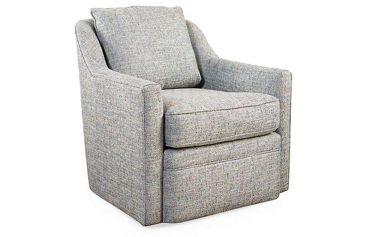 Best Anouk Swivel Club Chair Ice Blue Swivel Chair Swivel 400 x 300