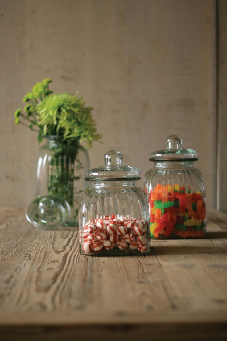 54 best ribbed glass images on pinterest ribs glass canisters set of three square ribbed glass canisters