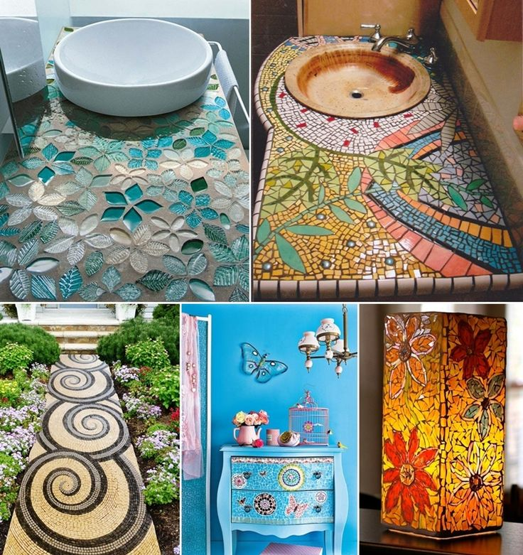 Mosaic decorations for the home