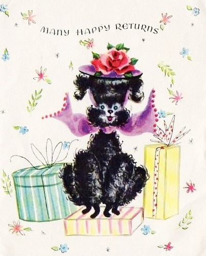 100 best poodles on cards images on pinterest poodles vintage vintage poodle birthday card bookmarktalkfo Gallery