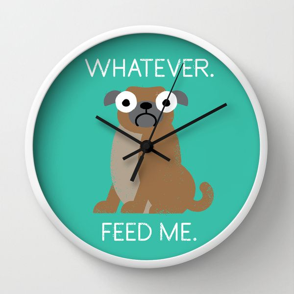 The Pugly Truth by David Olenick as a high quality Wall Clock. Free Worldwide Shipping available at Society6.com from 11/26/14 thru 12/14/14. Just one of millions of products available.