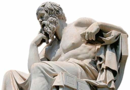 A statue of Socrates