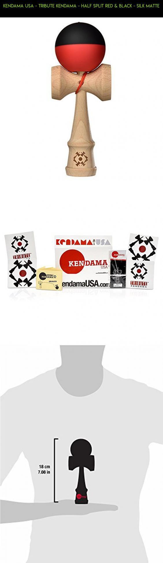 Kendama USA - Tribute Kendama - Half Split Red & Black - Silk Matte #tech #racing #technology #usa #drone #plans #parts #shopping #fpv #products #kit #gadgets #camera #kendama