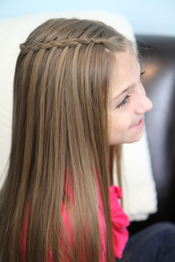 Feather Waterfall Braid Combo Hairstyle Hairstyles