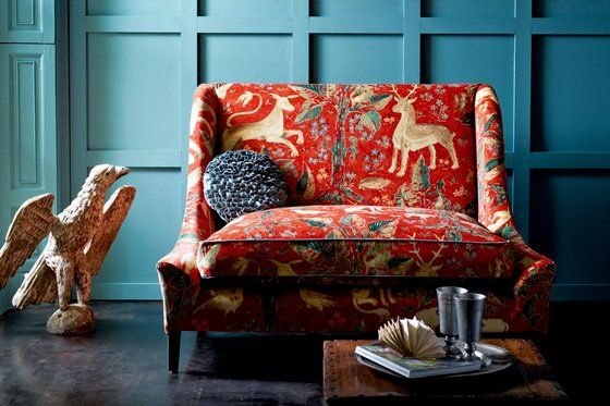 Go wild with spring interiors | The Sunday Times. Arden velvet fabric by Melissa White for Zoffany