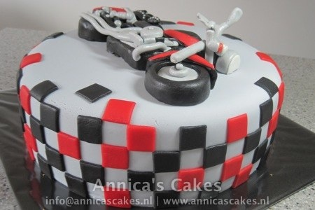 moter taart / motorcycle cake