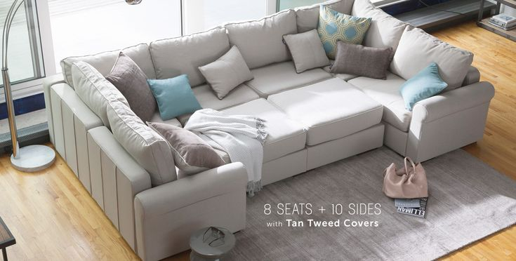 Convertible pieces to fit any room / sectional sofa, pit group / washable and you can change the covers & colors too too  - lovesac.com / Sactionals | Love in Furniture Form /