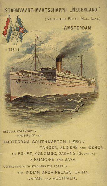 SMN boekje 1911 - Stoomvaart-Maatschappij Nederland - (Johan van Oldenbarneveld)